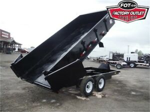 14K – 7 X 16 DUMP TRAILER – ROLL TARP, RAMPS & TAXES INCLUDED!