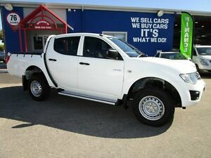 2010 Mitsubishi Triton MN MY10 GLX Double Cab White 4 Speed Automatic Utility Welshpool Canning Area Preview