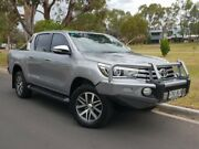 2016 Toyota Hilux GUN126R SR5 Double Cab Silver 6 Speed Manual Utility Hillcrest Port Adelaide Area Preview
