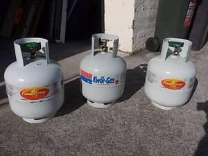 FULL BBQ LPG GAS BOTTLES 8.5 kg size = $35.00 EACH Tempe Marrickville Area Preview
