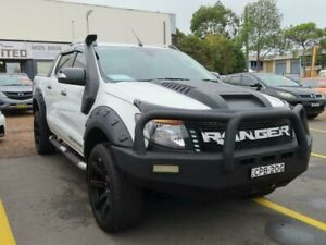 2013 Ford Ranger PX Wildtrak Double Cab White 6 Speed Sports Automatic Utility