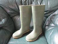 Green Wellington boots wellies