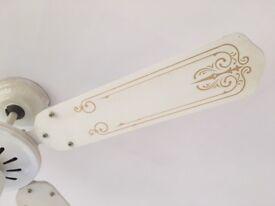 Ceiling fan light pull switch reversible blades