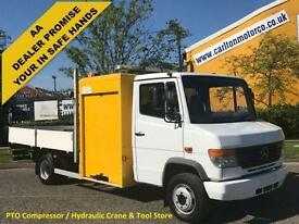 Mercedes-Benz Vario 614D Dropside+Hydraulic Crane,P.T.O,Low Mileage,Tool-box