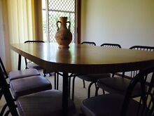 Antique laminex Dining Table and 8 steel framed chairs South Toowoomba Toowoomba City Preview