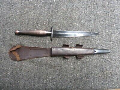WWII BRITISH 2ND PATTERN SYKES FAIRBAIRN COMMANDO KNIFE-SHEATH-NICE MARKING