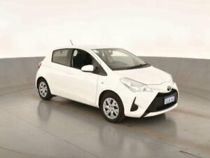 2018 Toyota Yaris NCP130R MY17 Ascent Glacier White 4 Speed Automatic Hatchback Bibra Lake Cockburn Area Preview