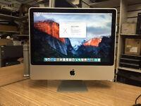 """Apple iMac 20"""" Core 2 Duo 2.66GHz 4GB Ram 500GB HDD A1224 El Capitan"""
