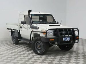 2010 Toyota Landcruiser VDJ79R 09 Upgrade Workmate (4x4) White 5 Speed Manual Cab Chassis Jandakot Cockburn Area Preview