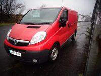 2008 (58reg) Vauxhall Vivaro CDTi SWB 1.9 1 year MOT £2895 no vat wx we van