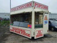 Catering trailer unit sweets trailer showman kiosk unit