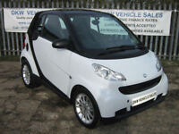SMART FORTWO 1.0L PASSION AUTO 2010 (10) 36K / FULL LEATHER / A/C / SAT NAV!!!!!