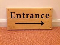 Beautiful Wooden Entrance Sign