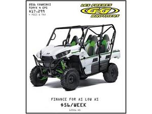 0% FINANCING AND 3 YEAR WARRANTY ON 2016 TERYX 4 MODELS
