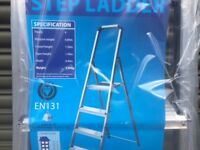 WORKWEAR CLEARANCE - 4 Tread Light Commercial Stepladders less than 50% of RRP