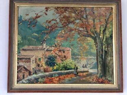 Original Framed Oil Painting on Canvas by H. Marriott Burton