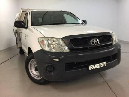 2009 Toyota Hilux TGN16R MY09 Workmate 4x2 White 5 Speed Manual Cab Chassis Chatswood Willoughby Area Preview