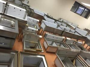 Stainless steel laundry sinks, dog grooming tubs, etc