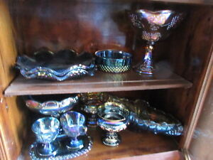some nice vintage carnival glass in this estate sale