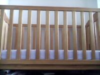 Mothercare Cot With Mattress For Sale