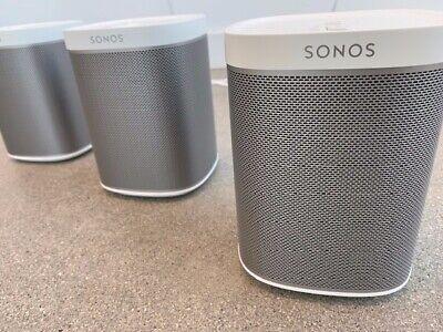 Sonos One Smart Compact Wireless Wi-fi Speaker model - Play:1 White x 3