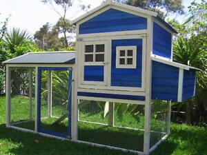 Chicken Coop Somerzby Blue Mansion Rabbit Hutch Cat Enclosure Run Somersby Gosford Area Preview