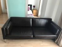 Ikea Sofa Sater 3 seater faux leather dark brown