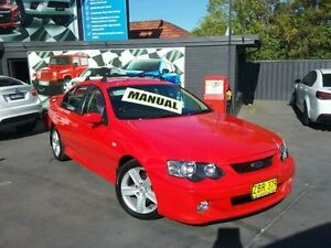 2003 Ford Falcon BA XR6 Red 5 Speed Manual Sedan Greenacre Bankstown Area Preview