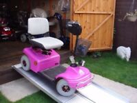 Rare Pink Shoprider Deluxe Mobility Scooter Heavy Duty Fully Adjustable Was £2200 Now Only £395