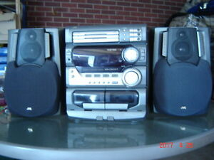 JVC Stero 3 Disc/AM FM/Double Cassette ETC