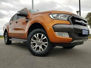 2015 Ford Ranger PX MkII Wildtrak Double Cab Orange 6 Speed Sports Automatic Utility Kenwick Gosnells Area Preview