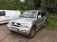 Mitsubishi shogun equippe di-d 5 door, 7 seater 2005 non runner - engine fault