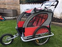 3 Wheeled Children Bicycle Trailer & Jogging Stroller Combo