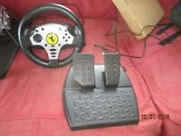 PS3 and PC steering wheel and pedals