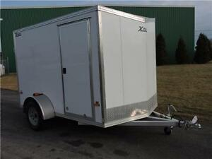 Remorque fermée aluminium 6X10 Enclosed Aluminum Trailer