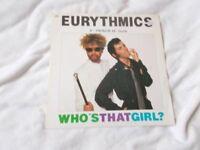 Vinyl 12in 45 Who's That Girl? – Eurythmics RCA DAT 3 Stereo 1983