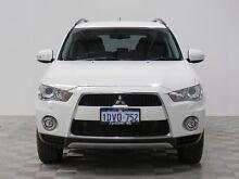 2012 Mitsubishi Outlander ZH MY12 XLS White 6 Speed CVT Auto Sequential Wagon Jandakot Cockburn Area Preview