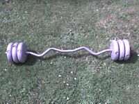 33 lb 15 kg Grey Dumbbell & Barbell Weights