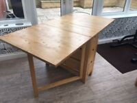 Folding Dining Table with 6 drawers (IKEA - Norden Gateleg table)
