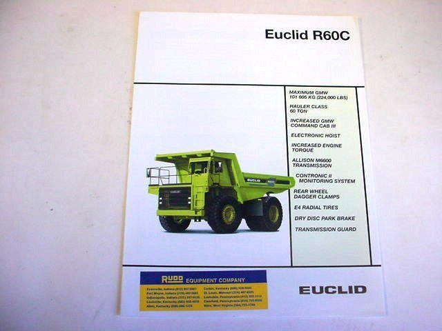 Euclid R60C Hauler Truck Literature