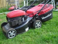 Self propelled Mountfield petrol Mower, excellent condition