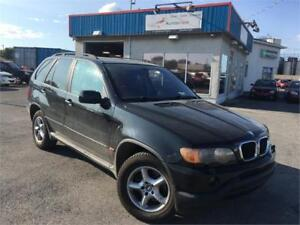 BMW X5 2003 3,0i AWD/ AC/ 8 PNEUS+MAGS/ CUIR/ TOIT OUVRANT/ FULL