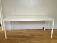 IKEA MELTORP LONG WHITE TABLE, DESK