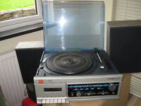 Vintage record player/tape/radio with two speakers. REDUCED