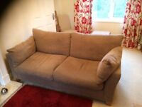 2 seater medium sized sofa from next - dark natural