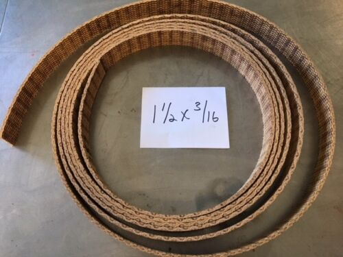 WOVEN BRAKE BAND SHOE MATERIAL 1-1/2X3/16 HI-FRICTION NON ASBESTOS SOLD BY FOOT