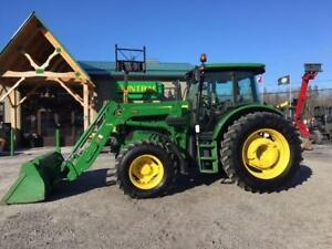 2014 JOHN DEERE 6140D ROW CROP TRACTOR WITH LOADER