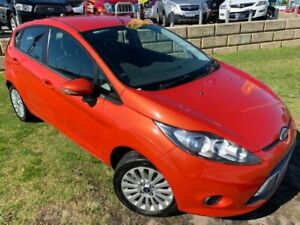 2010 Ford Fiesta WT LX PwrShift Orange 6 Speed Sports Automatic Dual Clutch Hatchback Wangara Wanneroo Area Preview