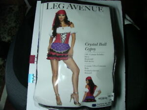 CRYSTAL BALL GYPSY COSTUME-SIZE M/L