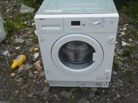 BEKO WMI71641, 7 KG, 1600 SPIN, A + RATED INTEGRATED WASHING MACHINE IN WHITE, EXCELLENT CONDITION